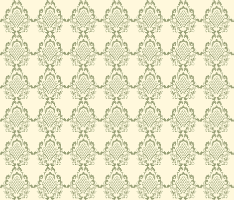 Damask_Green fabric by ©_lana_gordon_rast_ on Spoonflower - custom fabric