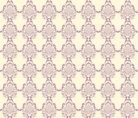 Damask_Plum fabric by ©_lana_gordon_rast_ on Spoonflower - custom fabric