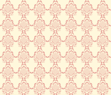Damask_Rose fabric by ©_lana_gordon_rast_ on Spoonflower - custom fabric