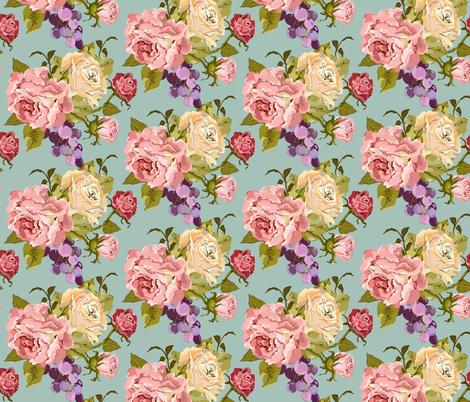 Vintage Rose Jade fabric by lana_gordon_rast_ on Spoonflower - custom fabric