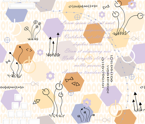 Geek Garden fabric by demouse on Spoonflower - custom fabric