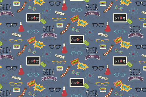 GEEKCHICswatch fabric by shaleceelynne on Spoonflower - custom fabric