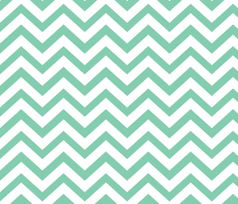 Chevy in Mint fabric by natitys on Spoonflower - custom fabric