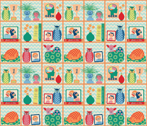 chic and geek fabric by gracedesign on Spoonflower - custom fabric