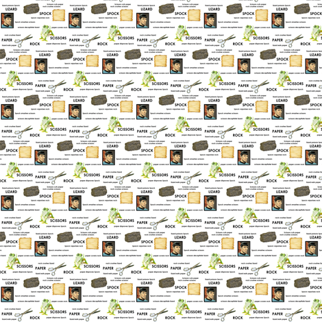 Rock Paper Scissors LIKE A BOSS small fabric by wolfishie on Spoonflower - custom fabric