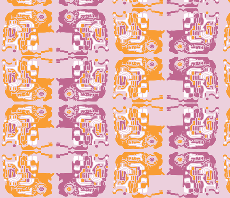 pink_auto_brain fabric by adrianne_nicole on Spoonflower - custom fabric
