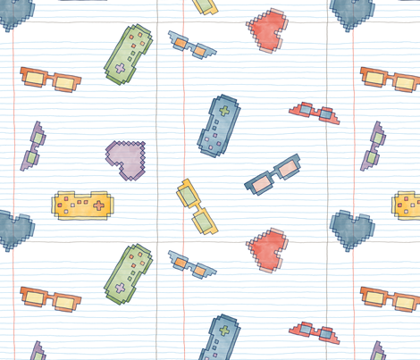 Geeky & a Little Sketchy fabric by leighr on Spoonflower - custom fabric