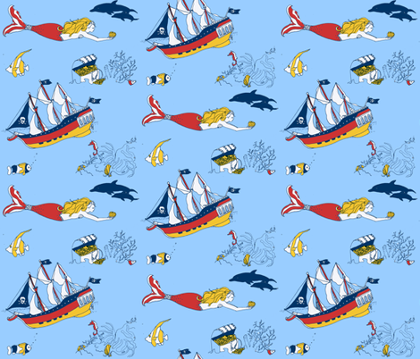 under the sea fabric by vonblohn on Spoonflower - custom fabric