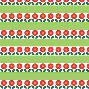Bunny Flower Stripe - Green
