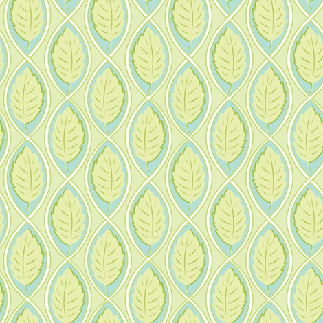 Leaf Spiral lt.green fabric by jillbyers on Spoonflower - custom fabric