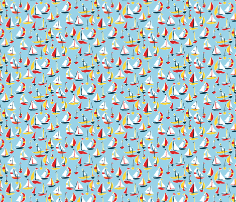 Sail Away fabric by minimiel on Spoonflower - custom fabric