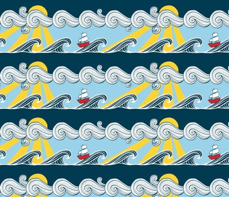 The Salty Sea fabric by crowlands on Spoonflower - custom fabric