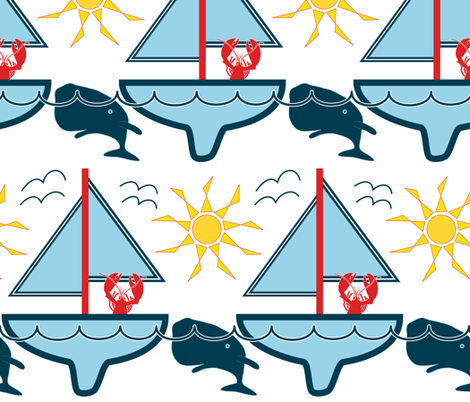 Yo Whale fabric by likarish on Spoonflower - custom fabric