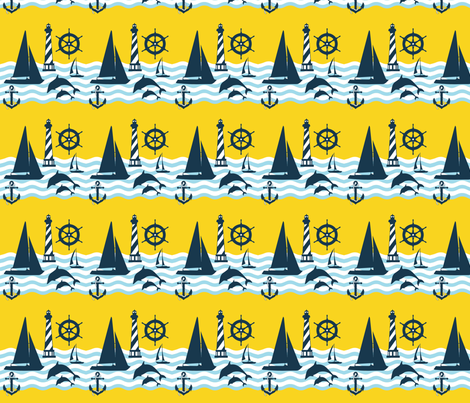 Sailing fabric by dnzsea on Spoonflower - custom fabric
