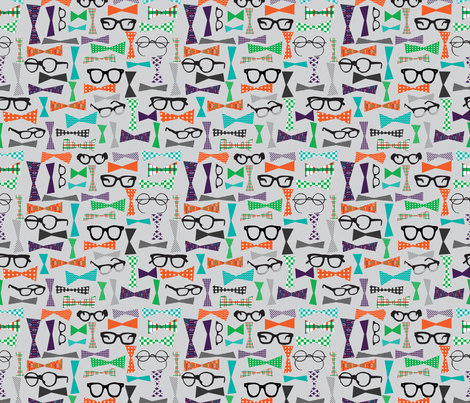 Dapper Geek fabric by emilyannstudio on Spoonflower - custom fabric