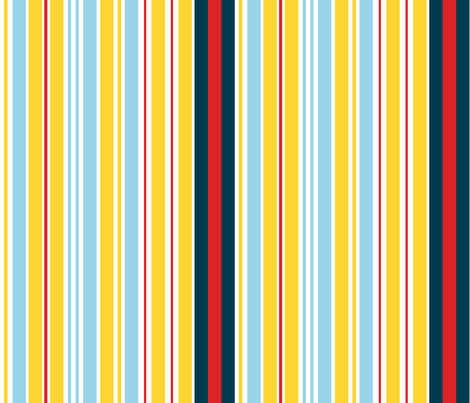Yellow stripes fabric by demouse on Spoonflower - custom fabric