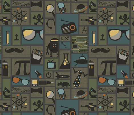 All Things Geek fabric by littlerhodydesign on Spoonflower - custom fabric