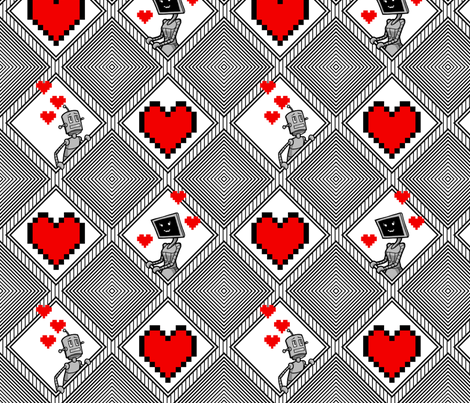 Robot Love fabric by siya on Spoonflower - custom fabric