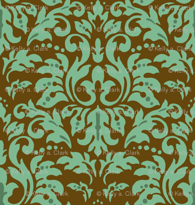 Chocolate_Aqua_Damask