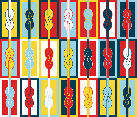 Figure-Eight Knots fabric by mongiesama on Spoonflower - custom fabric