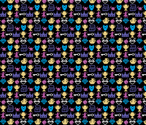 Coleco Vision Venture fabric by pixeldust on Spoonflower - custom fabric