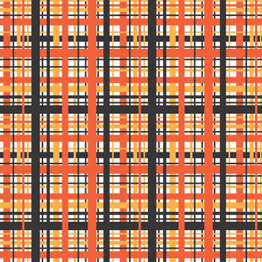 Sunburst 70's Plaid - Large
