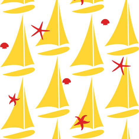 Yellow sails fabric by demouse on Spoonflower - custom fabric
