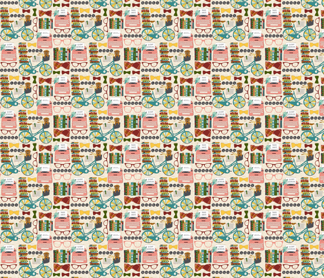 Vintage Book Nerd fabric by sara_berrenson on Spoonflower - custom fabric