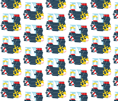 SailingAway fabric by creativitylizette on Spoonflower - custom fabric