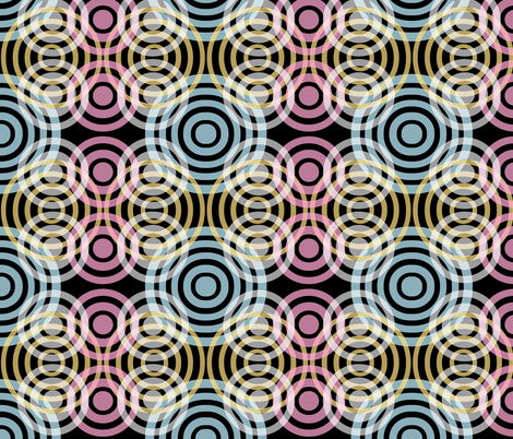 Wave_Pattern_Black fabric by kcs on Spoonflower - custom fabric