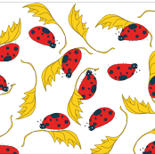 Ladybugs & Leaves, tossed