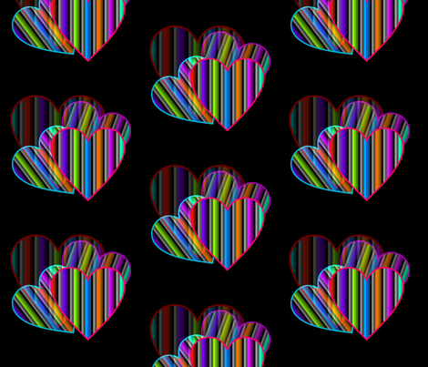Focus On Love fabric by charldia on Spoonflower - custom fabric