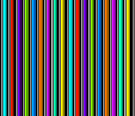 Bold Bright Stripes on Black and Gray fabric by charldia on Spoonflower - custom fabric