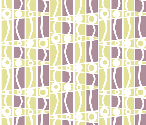 striped mod lilacs in the garden fabric by glimmericks on Spoonflower - custom fabric