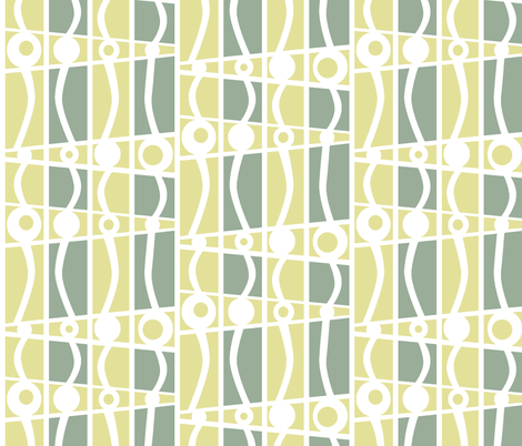 striped mod fresh cool fabric by glimmericks on Spoonflower - custom fabric