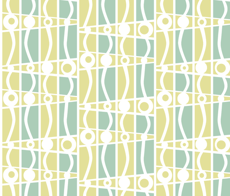 striped mod day at the beach fabric by glimmericks on Spoonflower - custom fabric