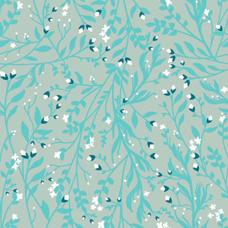 Snow Flower fabric by thistleandfox on Spoonflower - custom fabric