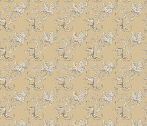 Swirls_Camel fabric by ©_lana_gordon_rast_ on Spoonflower - custom fabric