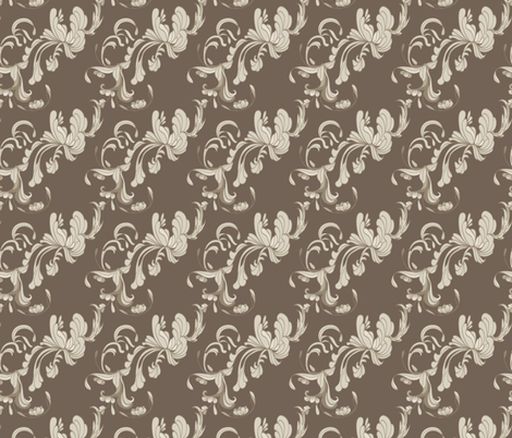 Swirls_Brown fabric by ©_lana_gordon_rast_ on Spoonflower - custom fabric