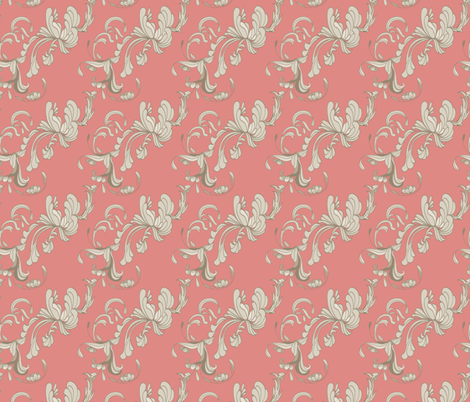 Swirls_Rose fabric by lana_gordon_rast_ on Spoonflower - custom fabric