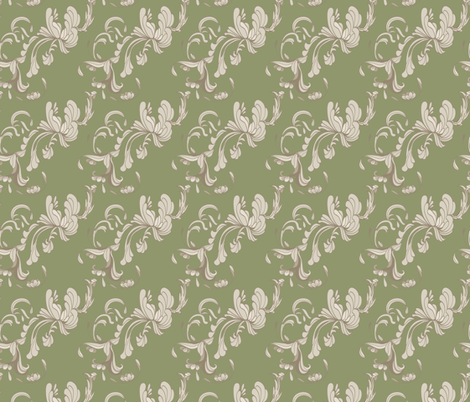 Swirls_Green fabric by ©_lana_gordon_rast_ on Spoonflower - custom fabric