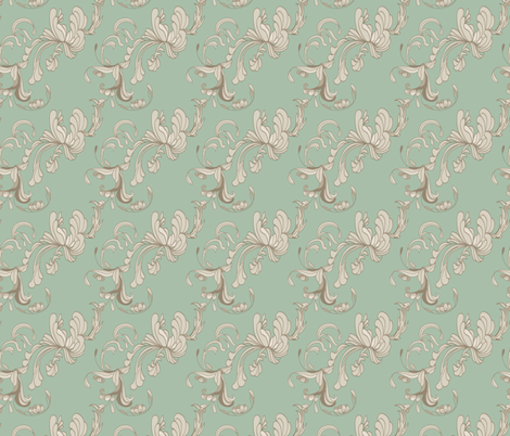 Swirls_Jade fabric by lana_gordon_rast_ on Spoonflower - custom fabric