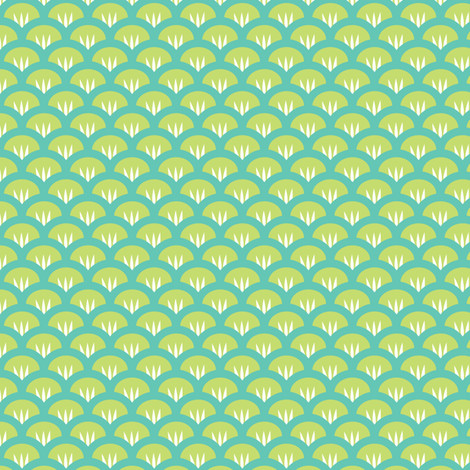 Suzy Woozy blue fabric by jillbyers on Spoonflower - custom fabric