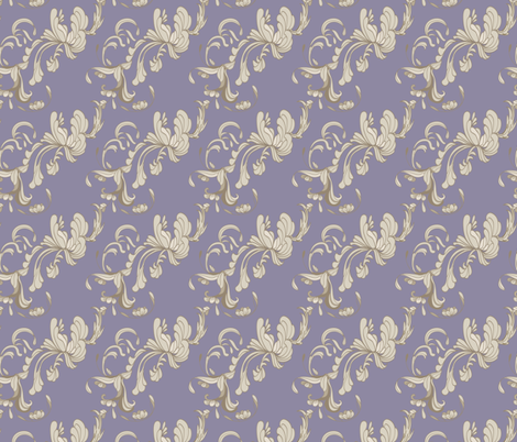 Swirls_Purple fabric by lana_gordon_rast_ on Spoonflower - custom fabric