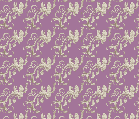 Swirls_Plum fabric by lana_gordon_rast_ on Spoonflower - custom fabric