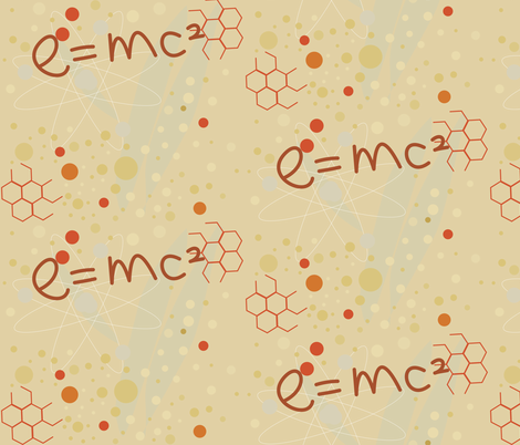 energy in cream fabric by rcm-designs on Spoonflower - custom fabric