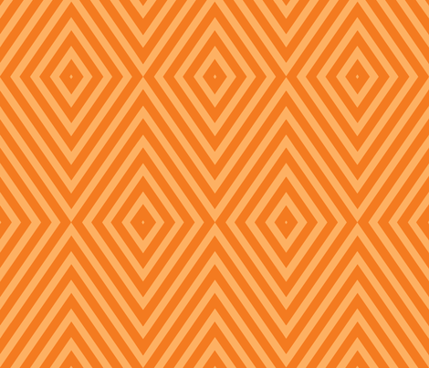 Diamonds Large, Orange fabric by occiferbetty on Spoonflower - custom fabric