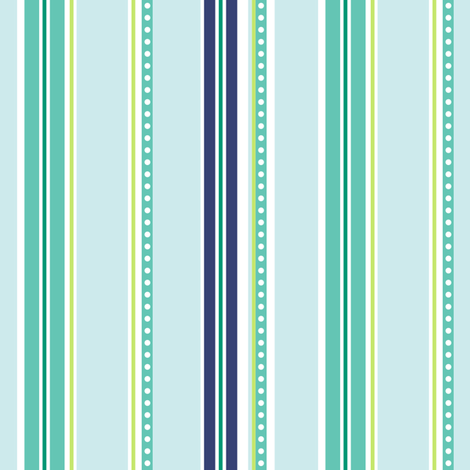 Polka Stripe light blue fabric by jillbyers on Spoonflower - custom fabric