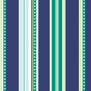 Polka Stripe navy