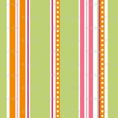 Polka Stripe green